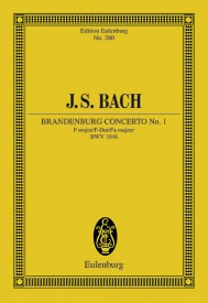 Bach: Brandenburg Concerto No. 1 F major BWV 1046 (Study Score) published by Eulenberg
